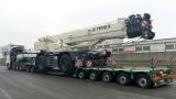 Перевозка крана 80 т из Италии в Таджикистан